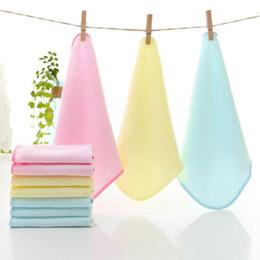 Yellow Towels Sale NZ - 3Pcs set Hot Sale Baby Towel Square Bamboo Fiber Face Towel Infant Kids Handkerchiefs Wipe Cotton 20*20cm