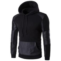 $enCountryForm.capitalKeyWord UK - Autumn Men Hooded Hoodie Hip hop Sweatshirt Leather Patchwork Hoodies Sportswear Pullover Casual Cotton Hoody Spring