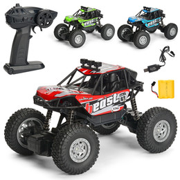 Green Truck Cars Australia - WLtoys 1:20 RC Cars 4WD 15KMH High Speed Off-road Racing Cars Monster Truck Rock Crawler Electric Remote Control Off-road Vehicle kids toys