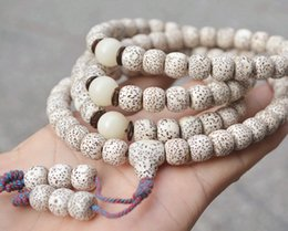 Natural Bodhi Bracelet Australia - Wholesale Hainan Xing Yue Natural Bodhi Bracelets Dry Grinding 108 Beads High Density Wood Necklace Lucky for Men Women Jewelry