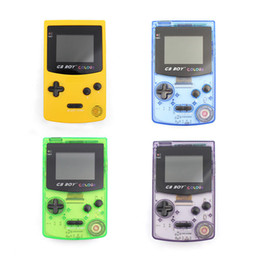 "Discount handheld video games for kids - 2.7"" GB Boy Colour Handheld Mini Game Console Classic Video Game Player with Backlit and 66 Retro Games for Kid Gif"