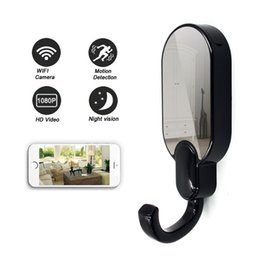 Motion Activated Camera Recorder Australia - HD 1080P WiFi Mini Camera Clothes Hook Security Camera Motion Activated DVR P2P WiFi Digital Video Recorder for IOS Android APP Remote View