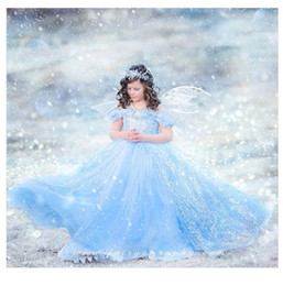 baby cinderella halloween costume Canada - baby girl dresses Frozen Halloween Girls Dresses Ball Gowns Cinderella Long Sleeve Ankle-Length Round Neck Evening Dress Stage costume
