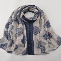 Cotton Viscose Scarves Australia - Women 2019,muslim hijab,leaves scarf,cotton viscose hijab,viscose scarf,Shawls and scarves,shawls wraps,british style,women cape