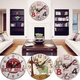 $enCountryForm.capitalKeyWord NZ - Vintage Rustic Wooden Wall Clock Antique Shabby Retro Home Kitchen Room Decor Antique Style Clocks