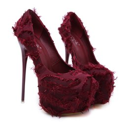 5de5d73a3e 2018 Summer NEW Fashion Women Platform Sandals Wine red Hot Sale Pumps Sexy  Satin Thin Heel High Heels Ladies Party Wedding Shoes 258-115