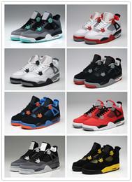 43eb4ebb07e0e Con la caja 2018 de alta calidad 4s zapatos de baloncesto para hombre 4s  cemento blanco