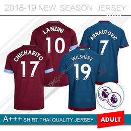0099badd1 2018 2019 West Ham United home Football Jersey Arnautovic Lanzini Snodgrass Noble  Carroll Chicharito Ayew Custom 18 19 away Soccer Shirt
