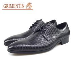 Grimentin Shoes UK - GRIMENTIN Hot Sale Italian Fashion Dress Mens Shoes Genuine Leather Black Men Oxford Shoes Pointed Toe Brand Formal Business Mens Shoes