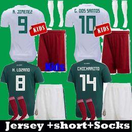Kids 2018 Mexico CHICHARITO G.DOS SANTOS LOZANO GUARDADO Children 2019  Soccer Jerseys uniform set 18 19 Boys Kits LAYUN MARQUEZ Shirts fc04a2cd4