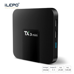 Chinese  TX3 mini tv box with android tv box 2gb 16gb with Bluetooth 2.4G wifi hot sell tv box for Family-time enjoy movie manufacturers
