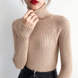 raglan sleeves women 2019 - Turtleneck Sweaters 2018 New Autumn Winter Raglan Sleeve Solid Thick Women Pullovers Warm Comfortable Bottom Knitted Shi