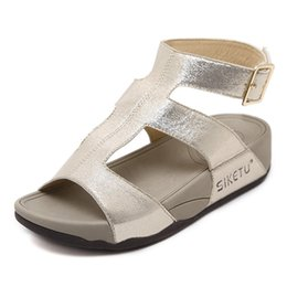 9ebe08592b Women's Sandals Summer Platform Wedge Sandals Fashion Shoes For Women  Gladiator Shoes Rome Sandals Peep-toe Flat Mujer Sandalias