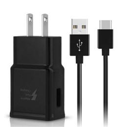 Ingrosso Caricabatterie da parete a ricarica rapida adattiva per Samsung Galaxy S8 S8 Plus Nota 8 Cavo USB tipo C adattatore USB UE con pacchetto