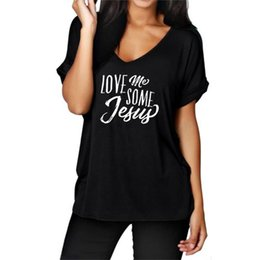560869dfe0873 2018 New Fashion LOVE ME SOME Jesus Print Top T-Shirt Female Women Tops  Tumblr Cropped Punk Silicone Rock