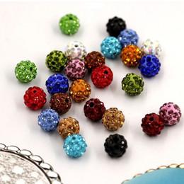 $enCountryForm.capitalKeyWord Australia - New Fashion Polymer Clay Ball Crystal Shamballa Bead Bracelet Necklace Beads Bracelet DIY Accessories Wholesale H0149-1