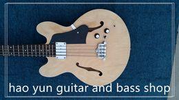 Custom Shop Maple Fingerboard Canada - electric bass guitar hollow body guitar china custom shop made 4 strings bass guitar rose fingerboard