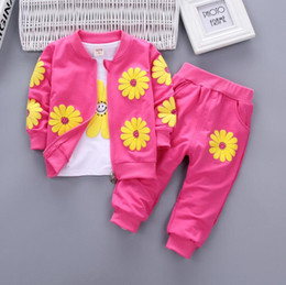 Three Piece Suit Bow Australia - New spring and autumn children's clothing Suit Boys Outfit bow tie three piece set casual pants Boy Suit Toddler Newborn Set Baby Wear 1-4T