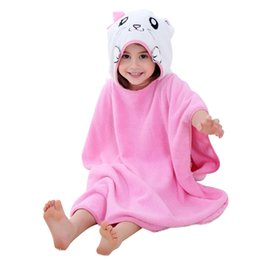 kids embroidered towels 2019 - MICHLEY Baby Hooded Robes 2018 Summer Kids Animal Towels 6 Styles Cotton Comfortable Children Bathrobe New Arrival Baby