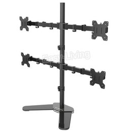 "head monitors 2019 - Desktop Stand Full Motion 360 Degree 3-4-6 Screens Monitor Holder 10""-27""LCD LED Monitor Mount Arm Loading 9.9"