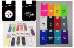 Wholesale Mix Items Order Universal m adhesive smart phone wallet card holder silicone silicone card holder for Smartphone