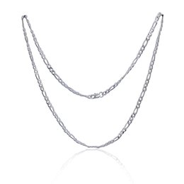 $enCountryForm.capitalKeyWord UK - New Style 925 Silver Jewelry 4mm Width Men's Figaro Chain Necklace 8 Choices High Quality Good Gift