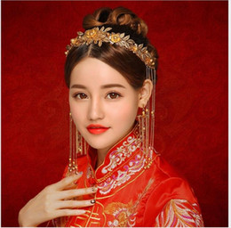 176e5c3f8 Chinese brides, Phoenix crown, wedding dress, dragon and Phoenix gown 2018  hair band ancient costume, Han clothing, hairpin accessories.