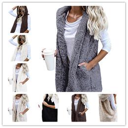 efc73a7e02625a Winter Sherpa vest warm Plush lint wool Waistcoat Women sleeveless cardigan  hooded coat sports outwear autumn warm jackets S-XL plus sizes