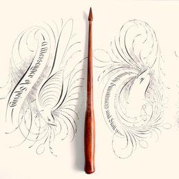 Pen Wood Australia - Best Quality Handmade Rose Wood English Calligraphy Copperplate Oblique Dip Pen Holder European Gift Vintage Dip Pen
