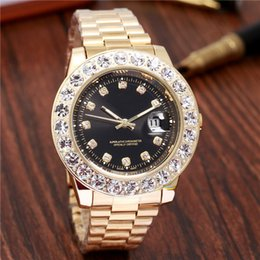 Big Purple Watches Australia - Relogio Masculino 44mm Big Dial Mens Diamond Watches Top Brand Luxury Mechanical Movement Automatic Watch Men Gold Wristwatch Day Date Clock