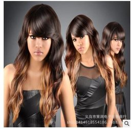 curl hair big waves NZ - The new European and American wig women fashion sales, long hair curling, big wave women's one hand supply