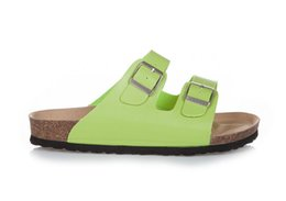 ca1a0c3d89ae0 Men and Women Slide Sandal Buckle Slip On Slippers Comfort Cork Footbed  Women s Gizeh Cork Thong Arizona buckle leather lime green Sandal
