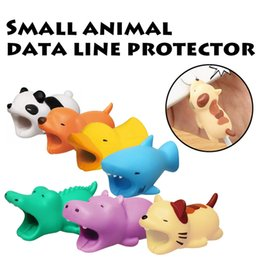 hot apple accessories NZ - Hot 36styles Cable Bite animal bite cable Protector Accessory toys cable bites dog pig elephant axolotl for iPhone smartphone Charger Cord