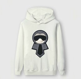 $enCountryForm.capitalKeyWord NZ - hoodies men 2018 Europe and the United States latest explosion men's four different solid color cartoon cotton long-sleeved sweater