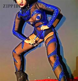 $enCountryForm.capitalKeyWord Australia - Black Perspective Mash Bodysuit Head Piece Leggings Sexy Show Leotard Costume Nightclub Singer Dj Performance Wear Clothing Set