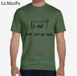 57c72eee2 Personality Men T Shirt Male Newest Shit Just Got Real Math Equation T-Shirt  For Men 100% Cotton Short Sleeve Tshirt Man O Neck