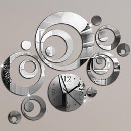 reloj pare 2019 - 2016 New Wall Clock Horloge Modern Design Reloj De Pared Large Decorative Digital Watch Living Room 3d Diy Acrylic Mirro