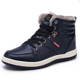 550427d86 2017 marca de invierno de los hombres de moda botas de cuero de los hombres  casuales de cuero mocasín zapatos de los hombres de invierno botines de los  ...