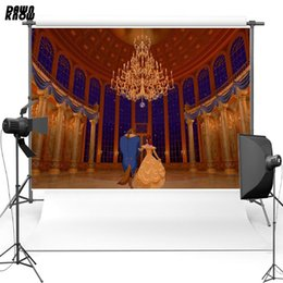 beauty beast painting NZ - DAWNKNOW Beauty and Beast Vinyl Photography Background Luxurious Castle Polyester Backdrops For Photo Studio Props G075