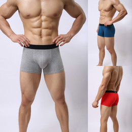 Wholesale cotton soft mens underwear resale online - Brand Underpants New Men Underwear Boxers Cotton Underwear Man Solid Soft Boxer Homme Shorts for Mens Modal Panties Underpants
