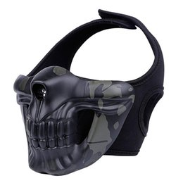 TacTical painTball equipmenT online shopping - Halloween skull mask outdoor field masks airsoft paintball tractical hood Glory knight mask CS tactical protective equipment