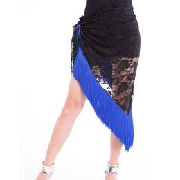 Discount women belly dance belt - Belly Dance Tango Cha Cha Tribal Tassels Lace Triangle Hip Scarf Wrap Belt Skirt New Sale