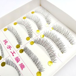 nude strips NZ - 10 Pairs Of Transparent Terriers Cross False Eyelashes Direct Selling Natural Nude Makeup Taiwan Handmade Eyelashes3