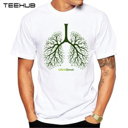 Discount popular t shirt designs - 2018 TEEHUB Summer Fashion Great Tree Printed T-Shirt Short Sleeve Popular Design Tops Novelty Tee