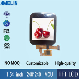 tft lcd touch screen module UK - 1.54 inch 240*240 square IPS TFT LCD module display with CTP touch panel and MCU interface screen for smart watch