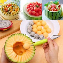 $enCountryForm.capitalKeyWord Australia - Creative Ice Cream Dig Ball Scoop Spoon Baller DIY Assorted Cold Dishes Tool Watermelon Melon Fruit Carving Knife Cutter Gadge