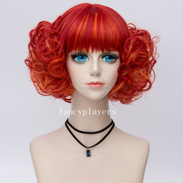$enCountryForm.capitalKeyWord NZ - Short Waves Curls Flat Bangs Retro Fashion Cosplay Daily Costume Wig Mixed Red