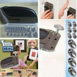 Second hand wholeSale online shopping - 47pc set Hand Hang Seamless Convenient Wall Stud Nail Picture Wall Hook Hanging Nail Gun Hang Anything In Seconds Hand Tools CCA10423 set