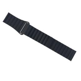 Magnetic Gears NZ - 22 20mm Leather Loop Band for Samsung Gear S3 S2 Leather band Bracelet Belt Watchband Magnetic Adjustable Closure Black