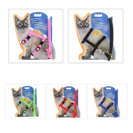 Used cat online shopping - Solid Color Breakaway Slim Kitten Leads Sturdy Nylon Durable Pets Collars For Outdoor Walk The Cat Use Leashes zj Z